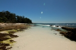 Hyams beach e sullo sfondo Greenfield Beach (foto: Anna Luciani)