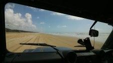 correndo (non oltre gli 80 km/h) lungo la seventy-five beach (foto: Anna Luciani)