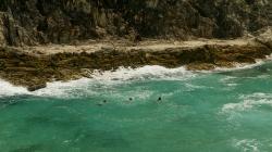 tre folli che nuotano nelle gole della George Walk (foto: Anna Luciani)