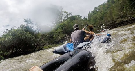 Rafting... da notare il mio equilibrio