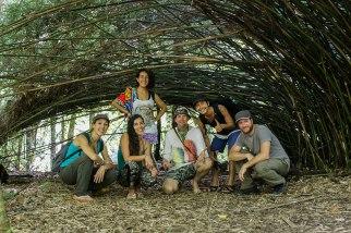 il gruppo al completo: Simone, Naomo, Jinkalmu, Clara, Bella e io