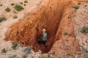 in miniera con George (foto: Anna Luciani)