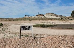 Anche a Coober Pedy hanno l'immancabile Campo da golf! (foto: Anna Luciani)
