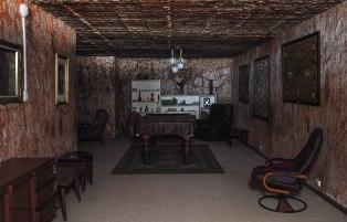 La casa di George. Gli ambienti sono stati scavati nella roccia dalle macchine escavatrici. (foto: Anna Luciani)