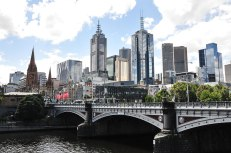 Melbourne vista dal Princes Bridge (foto: Anna Luciani)
