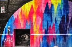 Street Art in Center Place. Questa forma d'arte ha contribuito e partecipato, negli ultimi anni, al processo di riqualificazione di aree della città un tempo degradate. Interi quartieri sono stati trasformati in veri musei a cielo aperto (foto: Anna Luciani)