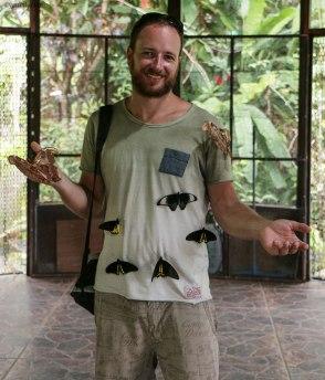 Simone al Bali Butterfly Park (foto: Anna Luciani)