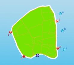 mappa identificativa delle spiagge e dei punti per fare snorkeling che io consiglio