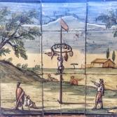maioliche del chiostro di Santa Chiara (foto: Anna Luciani)