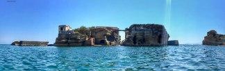 Isola di Gaiola, occupata da una splendida villa romana (foto: Anna Luciani)