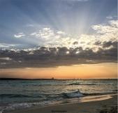 L'alba a La pelosa (foto: Anna Luciani)