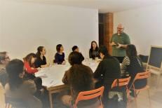 """Corso: """"Scrittura di Viaggio"""", Claudio Visentin, Spazio Oblò, Udine. Foto scattate durante il corso in aula (foto: Silvia Paoli Tacchini)"""