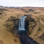 cascata di Skógafoss (foto da drone: Simone Chiesa)