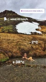 io che provo a morire congelata al Reykjadalur Hot Spring Thermal River (foto: Anna Luciani)