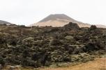 i campi di lava provocati dall'eruzione del 1973 detti eldfellsharun. Di sfondo il vulcano Helgafell (foto: Anna Luciani)