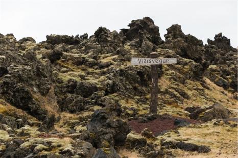 La Pompei del Nord. Campi di lava provocati dall'eruzione del 1973 che hanno ricoperto parte delle abitazioni del paese (foto: Anna Luciani)