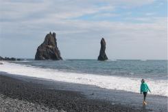 Reynisfjara. Vi assicuro che le onde c'erano (foto: Anna Luciani)
