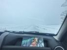 tempeste di neve lungo la strada (foto: Anna Luciani)