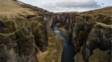 Fjaðrárgljúfur (foto da drone: Simone Chiesa)