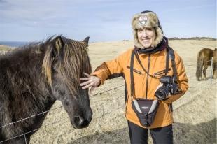 Io e un cavallo islandese, Heimaey Island (foto: Simone Chiesa)