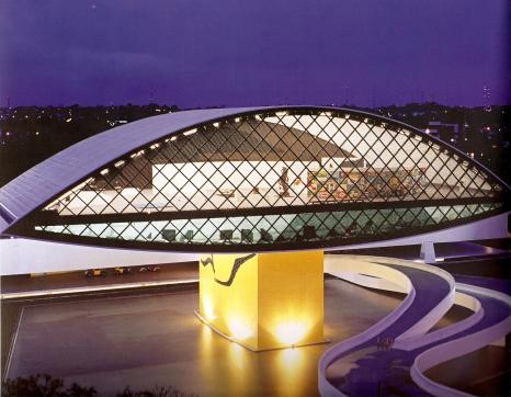 Museo Oscar Niemeyer (fonte: Oscar Niemeyer, Minha Arquitetura 1937 - 2004, Editora Revan)