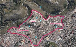 Il centro di Matera (immagine di Google Maps ed elaborazione Anna Luciani)