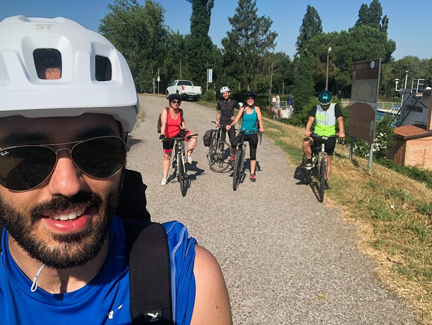 Un week end in bici lungo la destra Po